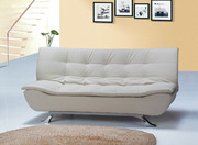 Designer Ivory Faux Leather Sofa Bed 4 Seater (Model: S/B003-I)