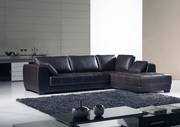 Designer Corner Leather Sofa Suite 3Seater+Chaise (Model: L-C/S 045)