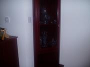 Mohogany corner display unit