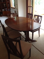 G PLAN dining room table and chairs.