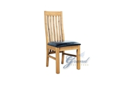 2 Oak Leather Dining Chair Oiled Dining Room Furniture