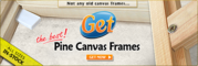 Canvas Frames,  Stretcher bars and complete range of accessories
