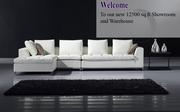 White Corner Leather Sofa Suite