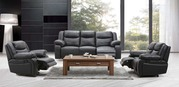 Excess Stock Black Manual Recliner 2 and 3Seater Sofa Suite
