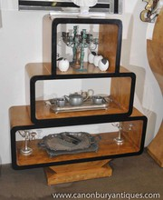 Art Deco Bookcase Shelf Unit Blonde Walnut 1920s Interiors