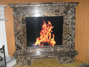 Marble fireplace Emperador Gold