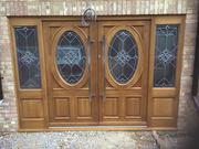 Double Front Door With Sidelights - TimberMaster LTD