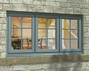 Triple Casement Painted Window
