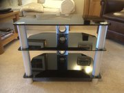 TV/HIFI Black glass stand
