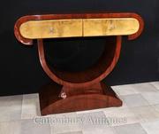 Art Deco Dressing Console Table Walnut 1920s Furnitur