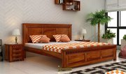 Buy King Size Beds Online from Wooden Space - Upto 60% off