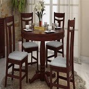 Buy Stylish Round Dining Table Set @60% OFF from WoodenSpace
