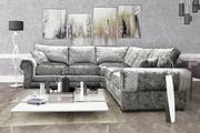 Perla Corner Sofa 2c2 Crushed Velvet Fabric Formal Back