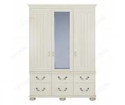 Kingstown Signature Cream 3 Door Combi Wardrobe with Mirror