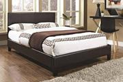 Purchase Modern Faux Leather Bed Frame with Memory Foam Mattress