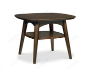 Bentley Designs Oslo Lamp Table with Shelf