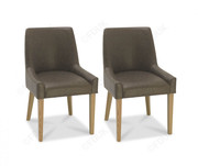 Bentley Designs Ella Light Oak Scoop Back Dining Chair