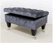 Footstools & More Offers Bespoke Black Storage Ottomans