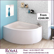 Pilot Back To Wall   Single Ended Acrylic Bath & Panel for Sale in UK