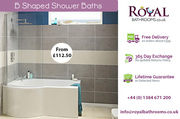 Complete B shaped Shower Bath