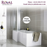 Quality Material L shaped Shower Bath