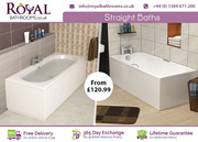 Quality Material Straight Shower Bath