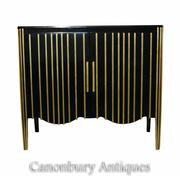 Art Deco Ebonised Cabinet Commode Modernist Furniture