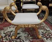 Louis XVI Gilt Stool Seat French Furniture